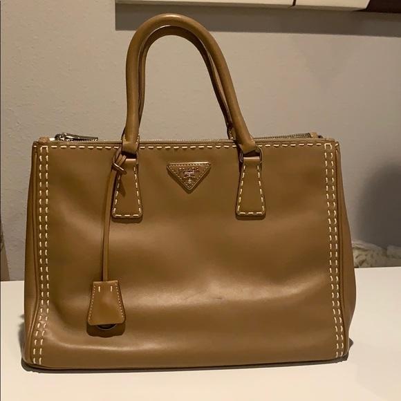 4f93271e5112 Prada Bags   Saffiano Caramel Large Double Tote Bag   Poshmark